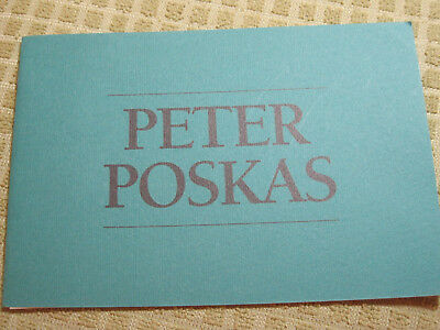 PETER POSKAS Artist NY & CT Exhibit soft cover book 1990 6 works with text