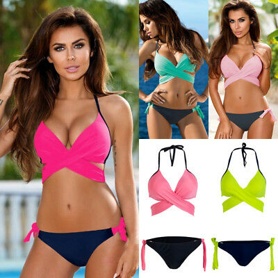 Women Push-up Padded Bandage Bikini Swimsuit Swimwear Bathing Suit Plus size