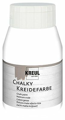 KREUL Kreidefarbe Chalky, Snow White, 500 ml