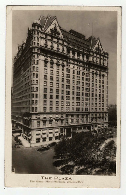 Antique Vintage Rppc  Postcard The Plaza Hotel At Central Park 1936