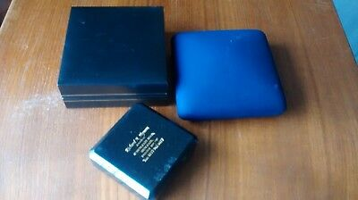 3  presentation brand name BOXES blue & black for watch, necklace ,earring ,etc