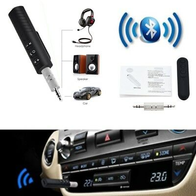 A Bluetooth 3.5mm AUX Car Stereo Audio Music Receiver Wireless Handsfree Adapter