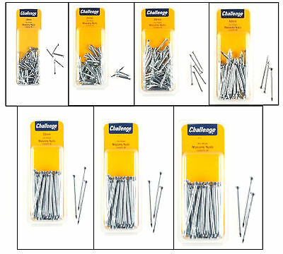 Masonry Nails Zinc Plated DIY Choose A Size 20mm 25mm 30mm 40mm 50mm 60mm 75mm