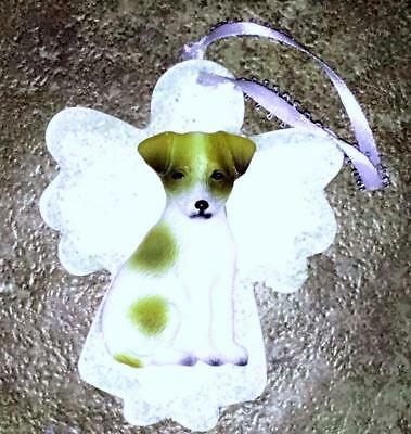 Jack Russell 3D Dog Christmas Angel Ornament Gift Holiday