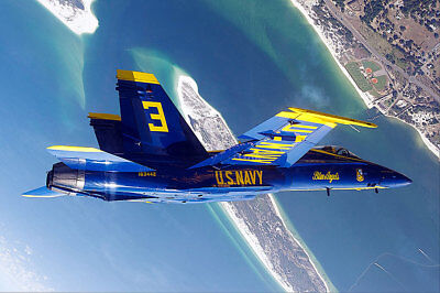 BLUE ANGELS LOOPING MANEUVER OVER PENSACOLA 8x12 SILVER HALIDE PHOTO PRINT
