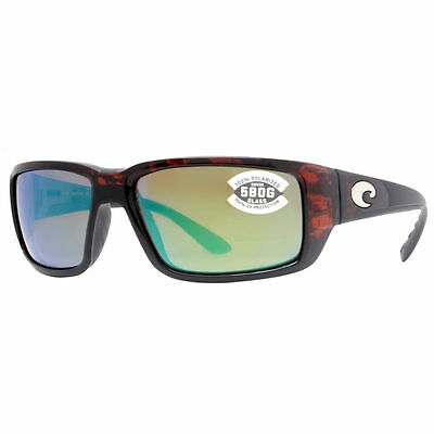 New Costa Del Mar Fantail Tortoise Frame 580G Green Mirror Lens TF10OGMGLP NEW