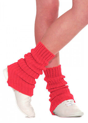 Red Stirrup Dance Leg Warmers 60cm