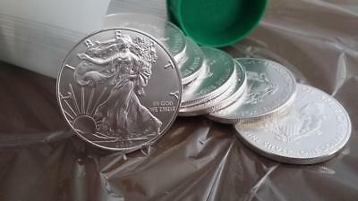 THREE (3) BU 2017 1 oz. American Silver Eagles, Lot of 3.  AWESOME PRICE!!!