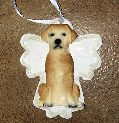 Yellow Lab Labrador 3D Dog Christmas Angel Ornament Gift Holiday