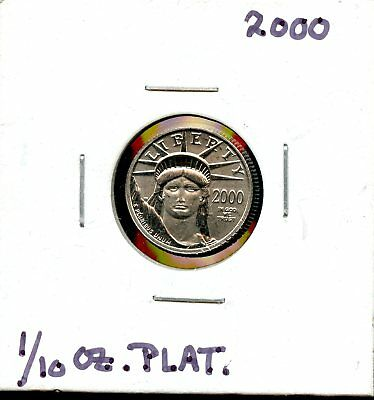 Amazing 2000 $ U.S.  American  Eagle .9995 Platinum 1/10oz  $10 Coin - VG16