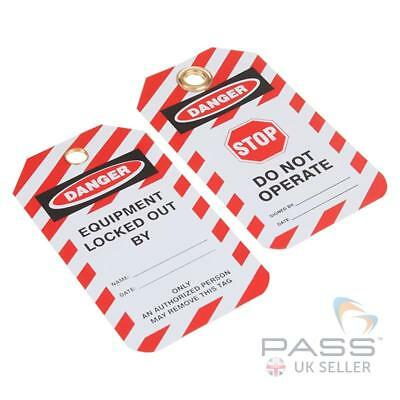 Stop - Do Not Operate Tagout Lockout Tag - Pack of 10