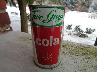 Vintage Two Guys Cola Soda Can Vornado Garfield Nj New Jersey Flat Top Tin