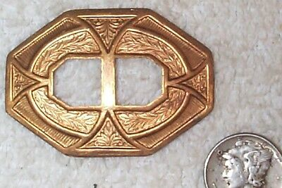 Vintage Brass Rich Patina Unique Concho Style Brass Stampings 6 Pieces
