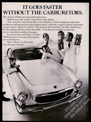 1970 Volvo 1800E 1800 E car photo vintage print ad