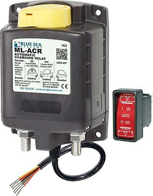 Marine Boat ML-ACR Automatic Charging Relay 500A 24V Blue Sea 7623