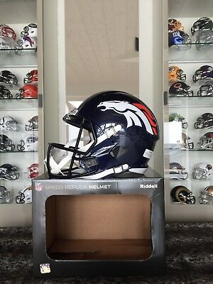 NFL Football Full Size Speed Helm DENVER BRONCOS Riddell neu &OVP