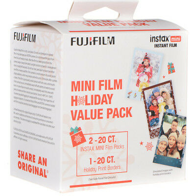 Fujifilm Film Instax Mini Film Holiday Value Pack (40 Exposures) 7 8 9 70 90