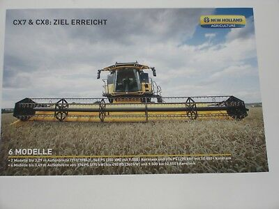 NEW HOLLAND CX7 & CX8 Mähdrescher Prospekt ( 2217 )
