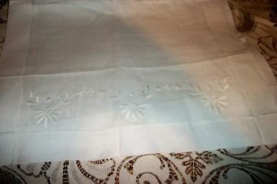 Chic Never Used Linen Monogram Runner Shabby Antique