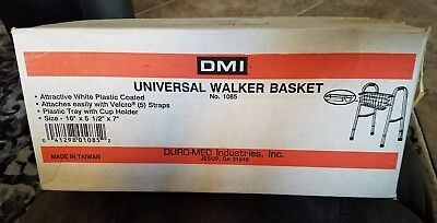 DMI SnapOn Walker Basket with Tray Table White #1085