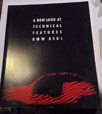 1989 BMW 850i Technical Brochure 190 pages Full Color 11 x 13.25""