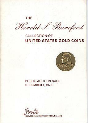 Stack's Harold Bareford 12/78 & 10/81 Coin Auction Catalogs