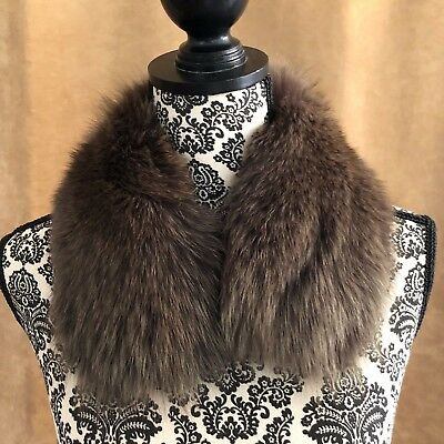 "Fox Stole Vintage collar fur 22"" long women custom wrap coat replacement stole"
