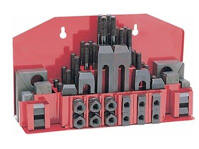 """52 Pc Clamping Kit Clamp 3/8"""" T-Slot with 5/16""""-18 Studs for Bridgeport Mill"""