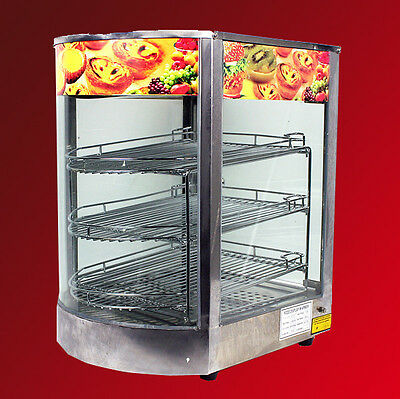 """MTN Commercial  Stainless Steel Countertop Food Pizza Display Warmer 20""""x17""""x14"""""""