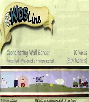 Kidsline Country Side Tractors Barn 30 Ft Wall Border New.