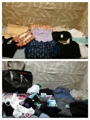 54 Pieces Of Women's Large Clothing - Pants, Tops, Bra, Bathing Suits, Socks
