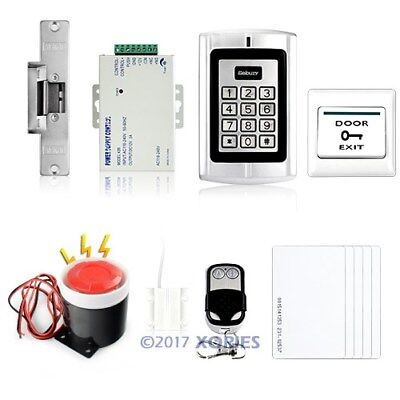 RFID Card Access Control System Kit With Strike Lock +Door Sensor+ Alarm+5 Cards
