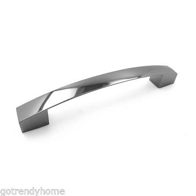 "10 Pack Sleek Square 4/"" Chrome Kitchen Cabinet Drawer Door Handle Pull P701102 C"