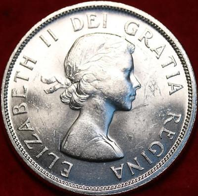 Uncirculated 1961 Silver Canada $1 Dollar Foreign Coin Free S/H