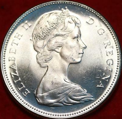Uncirculated 1967 Silver Canada $1 Dollar Foreign Coin Free S/H