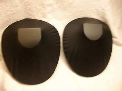 (2) Black Faux Leather Portable / Foldable Necklace Display Stands