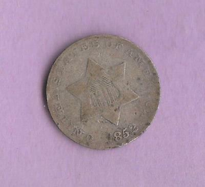 1852 United States Three Cent Silver- see pics for grade inv#9574