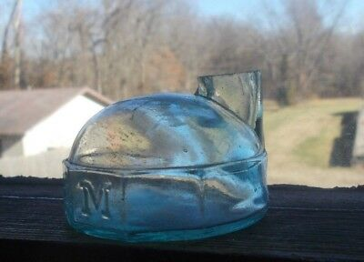 J&IEM (JAMES & ISAAC ELIJAH MOORE) MONITOR TURTLE INK BOTTLE 1870s WARREN,MA INK