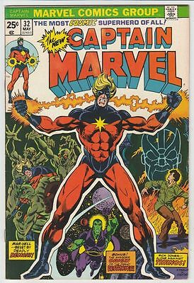 Captain Marvel 32 strict VF/NM- 1972 High-Grade The Destroyer, Thanos,  Richmond