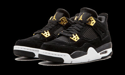 the best attitude de0e5 f419d Nib Nike Air Jordan 4 Retro Royalty Black Gold Size 5.5Y Youth Women s Size  7