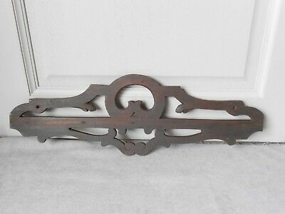 French Antique Carved wood PLAQUE PEDIMENT PANEL