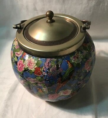 Vintage English Chintz Biscuit barrel
