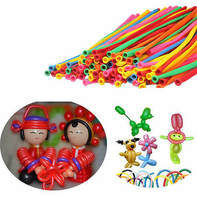 20-100pcs New Party Modelling Balloons Mixed Colours Latex 260Q Traditional