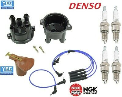 Fits Toyota Truck 4Runner 2.4L 22RE Tune-Up Kit Wires+Cap+Rotor+Spark Plugs