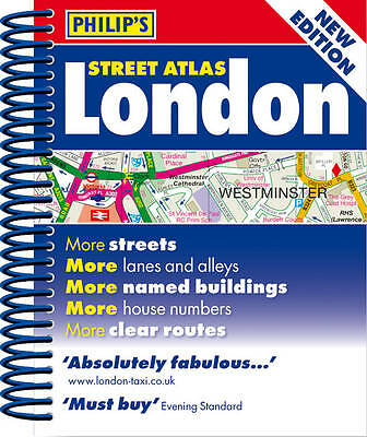 Philip's Street Atlas London: Mini Spiral Edition, Philip's Maps, Very Good Book