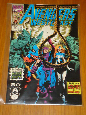 West Coast Avengers #76 Vol 1 Marvel Comic November 1991