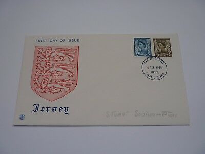 Jersey Definitive Issue 1968 Stuart FDC