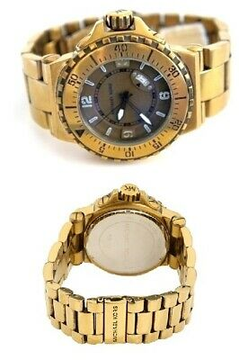 New Michael Kors Oversize Brass Plated S/steel,10 Atm,tachymeter Watch-Mk7063