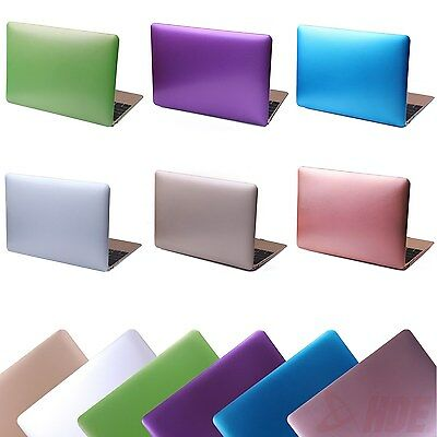 Rubberized Metallic Hard Shell Case Cover for MacBook Air 13 (A1466 / A1369)