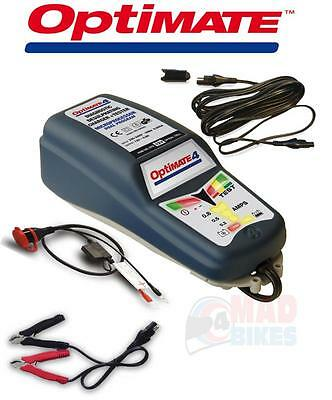 Optimate Caravan, Motorcycle, Scooter 12v Battery Charger Optimiser + 4.6m Lead